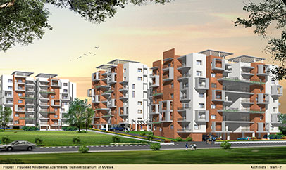 Damden Solarium - 2/3 BHK Flats for Sale in Ring Road Near VijayNagar, Mysore