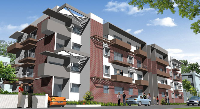 Damden City Square Apartments Living in Mysore